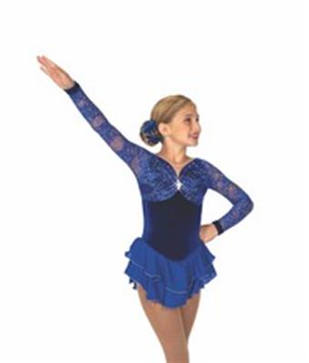 Tunique de patinage - Coronation Lace Dress - Royal Blue