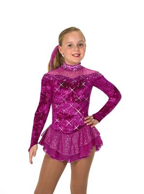 Tunique de patinage - Crystalline Dress - Dark Fuchsia